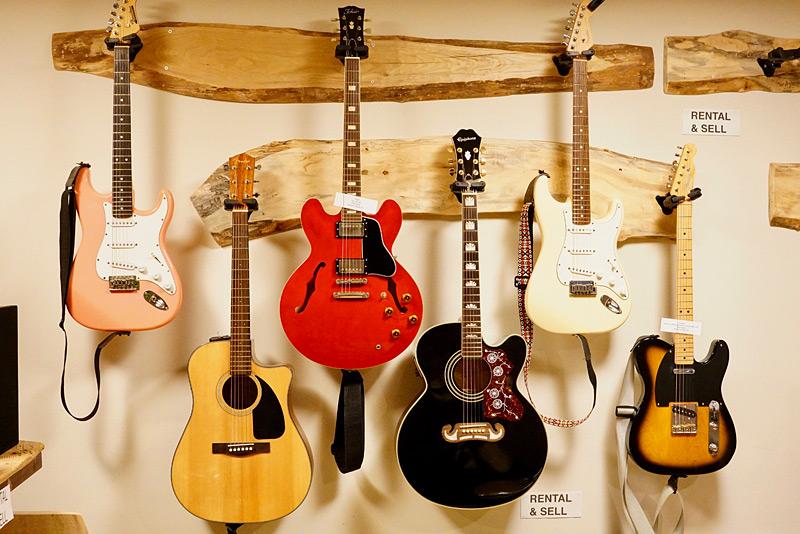 ギター教室レンタル楽器